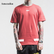 100% Cotton 2017 New loose red T Shirt Men Box Printed T-shirt Summer Autumn Male tops Tee fashion new arrival