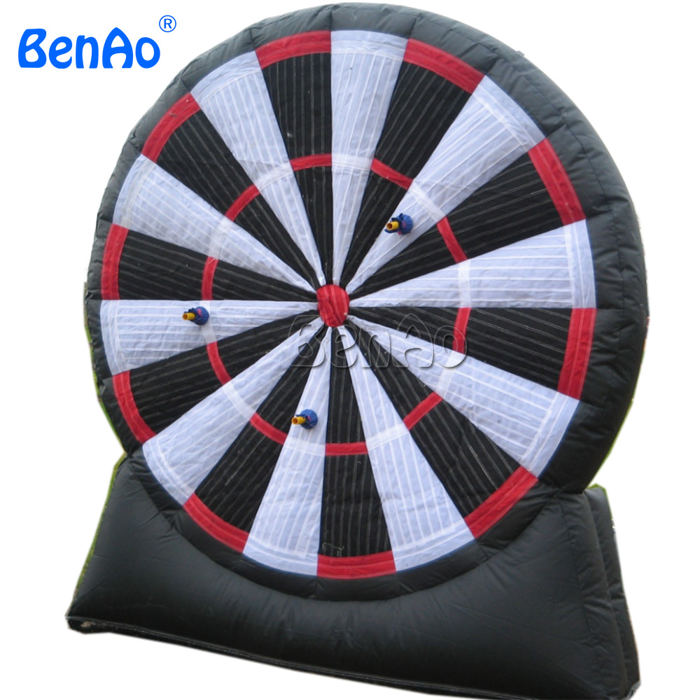 S027 BENAO High Quality Outdoor Inflatable Foot Darts Game 2.5m high  Free Shiping + Free Repair Kits + Free CE/UL  Blower game darts legering metalen wapen model draaibaar darts cosplay props voor collectie fidget spinner hand anti stress