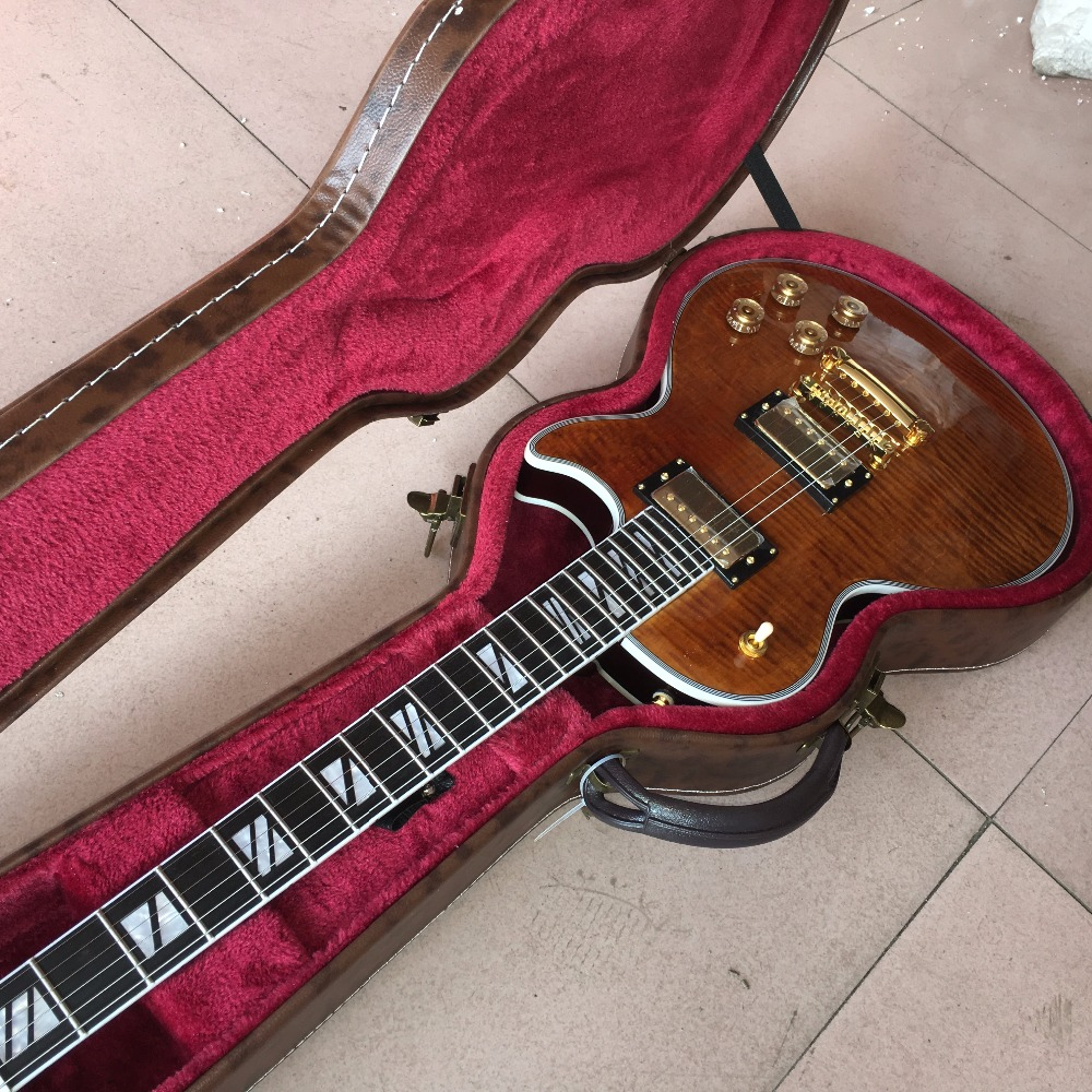 New arrival G custom shop 1959 R9 Tiger Flame les supreme Electric guitar,double tiger flame top Paul guitar Real photo shows