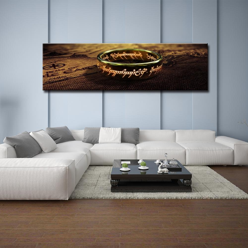 Canvas Pictures Wall Art movie Lord Of The Rings Paintings HD Prints One piece Ring Posters Bedside Living Room Home Decor mural in Painting Calligraphy from Home Garden