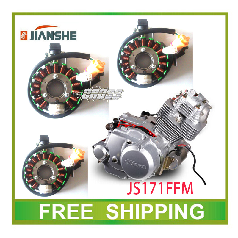 JIANSHE 250cc ATV atv250-3-5 stator magneto coil 16 coils accessories free shipping roller magneto coil cover yp250 linhai atv engine 250cc 300cc majesty accessories free shipping