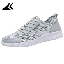 Plus Size 34-48 Running Sneakers Light Comfortable Air Mesh Flexible EVA Athletic Shoes Sport sapato masculino