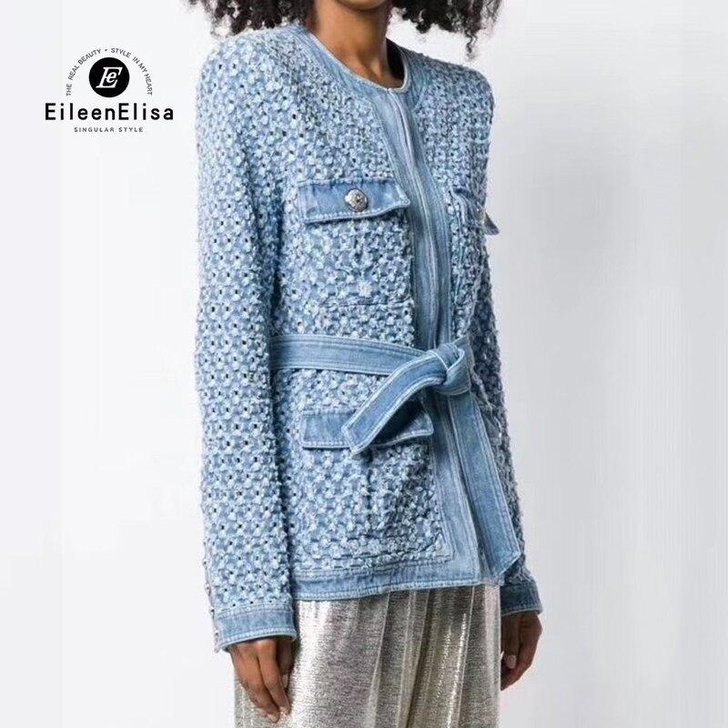 Весенняя шерстяная Женская твидовая куртка пальто 2019 с длинным рукавом двубортное пальто Модная женская верхняя одежда