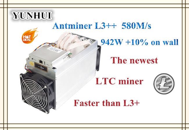 Newest ANTMINER L3++ 580M ( NO PSU )Scrypt Litecoin Miner LTC Mining Machine Better Than ANTMINER L3 L3+ S9 S9i newest asic chip miner antminer l3 580m scrypt miner ltc litecion mining machine upgrate version antminer l3 no psu