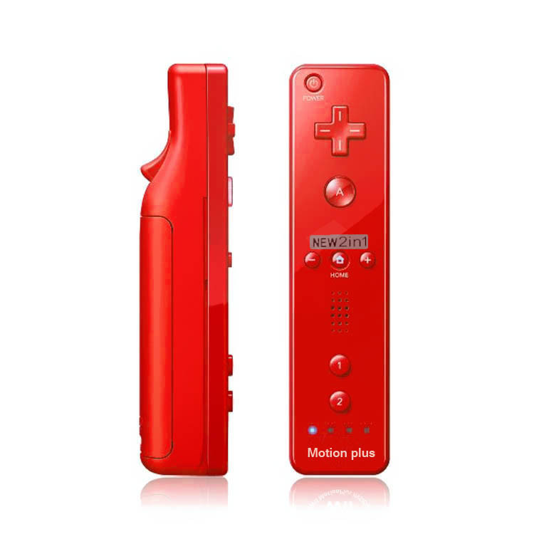 2 in 1 for Nunchuck Game Remote Controller with Built in Motion Plus For Nintendo For Wii console with Silicone Case cover