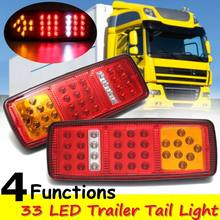 2x DC 12V Truck Trailer Boat 33LED Lamp Kit Tail Light Stop Indicator Waterproof(China)
