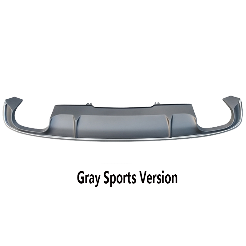 Black Gray Rear Bumper Lip Spoiler Diffuser Sport And Ordinary Paragraph For Audi A4 B9 S4 Sline 2017 2018
