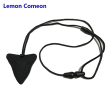 Lemon Comeon 1PC Shark Baby Teether Necklace Teething Toy Nursing Silicone Chewing Infant Pendant For Teeth