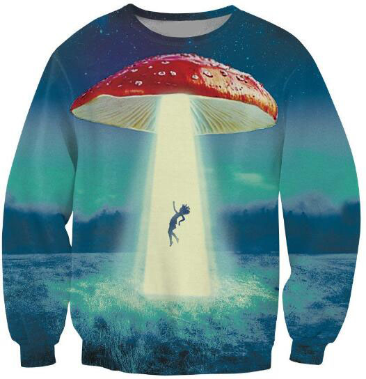 Going on a Trip Crewneck Sweatshirt 3D Print Sweats Jumper mushroom kidnapping another victim Pullover Men Jersey Outfits Tops