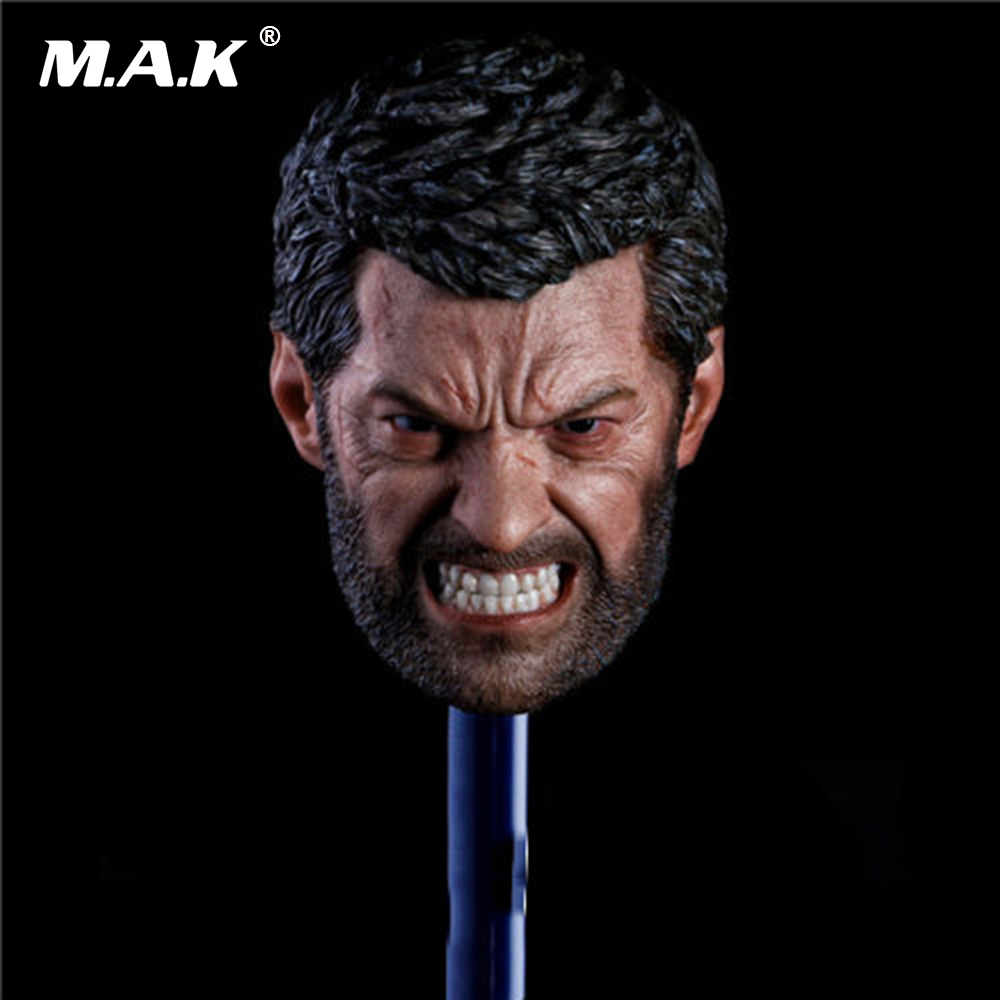 In stock 1/6 Scale Logan Head Sculpt Wolverine Hugh Jackman Angry Version for 12 inches Action Figure