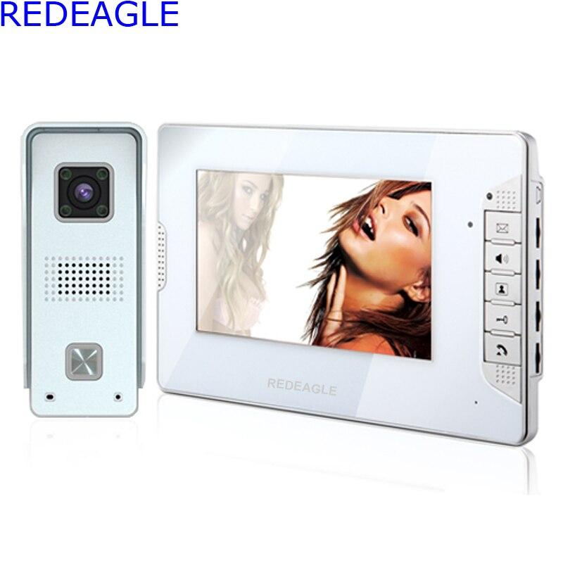 REDEAGLE Home 7 inch LCD Color Video door phone Intercom System Waterproof Night Vision Bell 700TVL HD Camera недорго, оригинальная цена