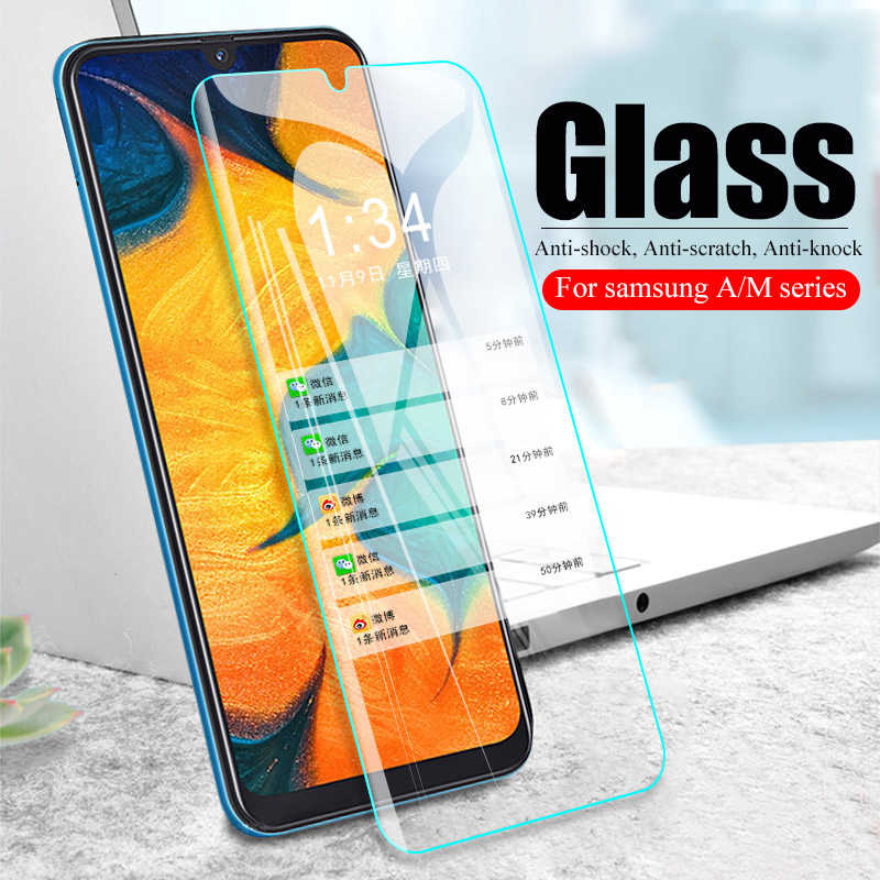 Cristal protector para Samsung A50 A30, cristal templado para Samsung Galaxy A40 A70 A10 A60 A90 A20 M10 M20 M30, cristal de seguridad 9H