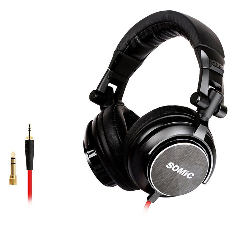 SOMIC Wired Headphones Studio Professional DJ Headphone Over Ear Monitor Mixing DJ Stereo Headsets Headphones for Phone PC PS4 oneodio wired headphones studio professional dj headphone with microphone over ear monitor studio headphones dj stereo headsets
