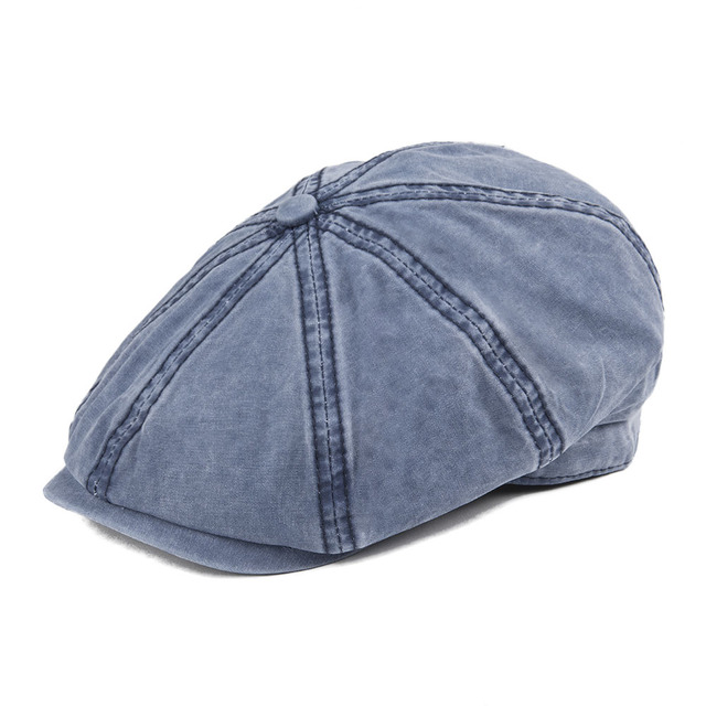 92277ea5a8aed VOBOOM Navy Blue Washed Cotton Newsboy Cap 8 Panel Flat Ivy Cap Summer  Light Fabrics Gatsby Hat Retro Cabbie Hats 160-in Newsboy Caps from Men's  ...
