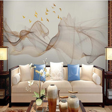 New abstract ink landscape painting TV background wall