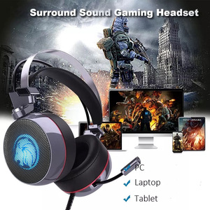 Image 4 - ZOP N43 Stereo Gaming Headset 7.1 Virtual Surround Bass Gaming Earphone Headphone with Mic LED Light for Computer PC Gamer