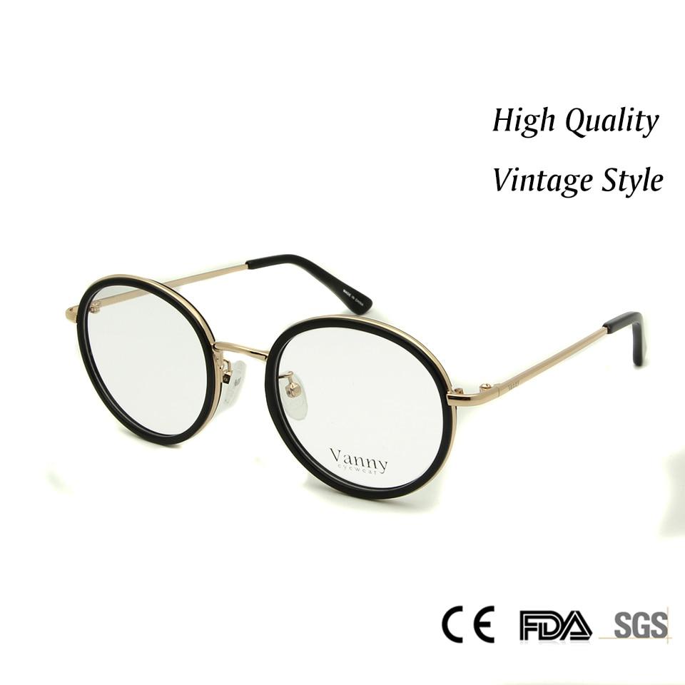 new high quality vintage glasses women optical oculos de grau feminino spectacle frames round glasses frames