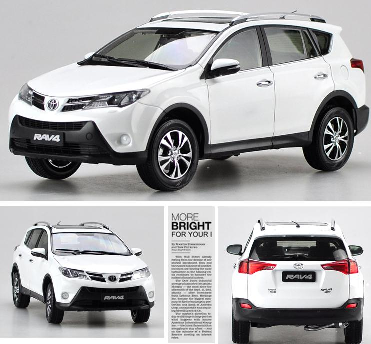 Original 1:18 advanced alloy car model, high simulation 2015 RAV4 TOYOTA SUV, high quality collection model, free shipping