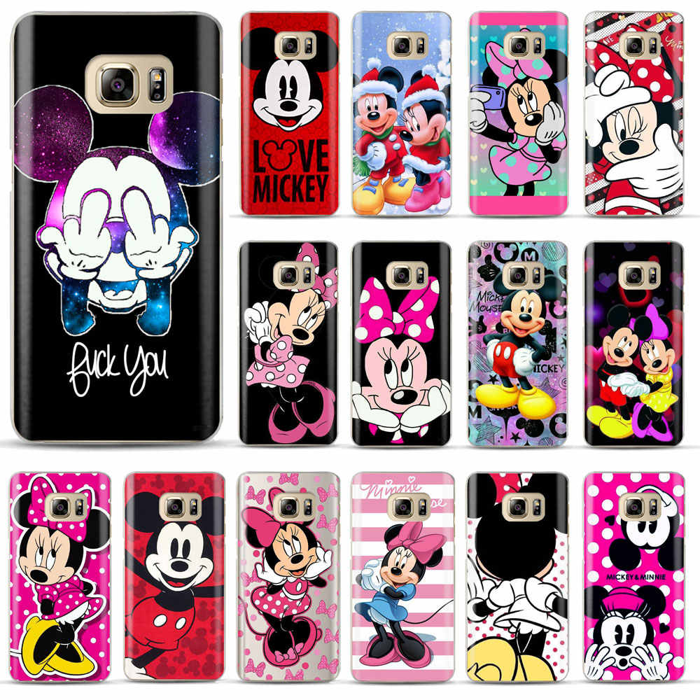 Mickey Minnie Cover Telefoon Case Voor Coque Samsung Galaxy S6 S7 Rand S8 S9 Plus J4 J6 A6 A8 Plus 2018 Zachte Siliconen Telefoon Cover