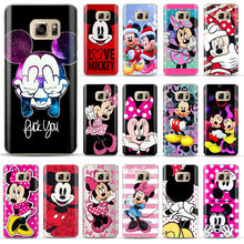 Mickey Minnie Cover Telefoon Case Voor Coque Samsung Galaxy S6 S7 Rand S8 S9 Plus J4 J6 A6 A8 Plus 2018 Zachte Siliconen Telefoon Cover(China)