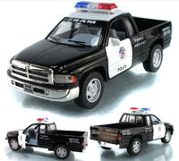 Candice Guo Hot Sale Scale 1 44 KINSMART Dodge Ram Police Car Alloy Model Pull Back