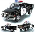 Candice guo! Hot sale Scale 1:44 KINSMART Dodge ram police alloy model car pull back pickup truck 1pc