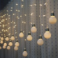 LYFS 5M 216 LED Bulb Light String Romantic Fairy Lights String Curtain Lights For Holiday Wedding Party Curtain Decora