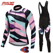 2019 FUALRNY NEW cycling jersey long sleeve men with pants sets top sale mtb bike wear clothing for ropa 9D gel