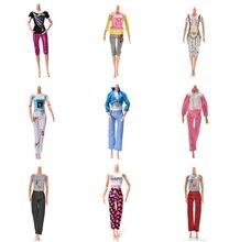 Top + pantaloni/set New Fashion Suit estate autunno abbigliamento abbigliamento abito per bambola giocattoli Outfit camicetta pantaloni per ragazze regalo
