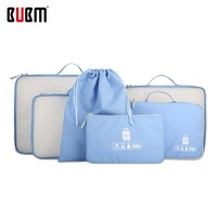 BUBM waterproof travel bag travel totes six-piece set for 24'luggage clothes underwear receiving organizer bag 5 color options