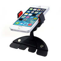 Car Styling Universal Multi Functional Car Auto 360 Degree Rotation CD Mount Slot Phone Holder Pad