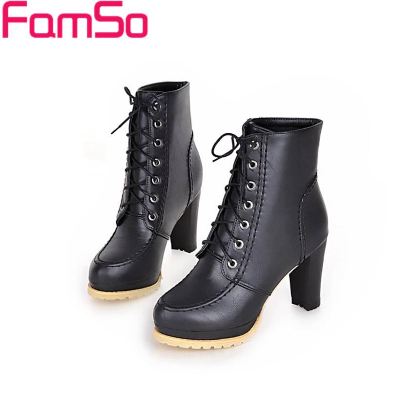 Plus Size34 43 2016 New Sexy font b Women b font Boots Autumn High Heels Wedding