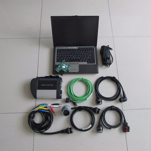 Cheap  mb star c4 sd connect with dell d630 laptop with software 2018.12 newest hdd 320gb diagnostic scanner ready to use