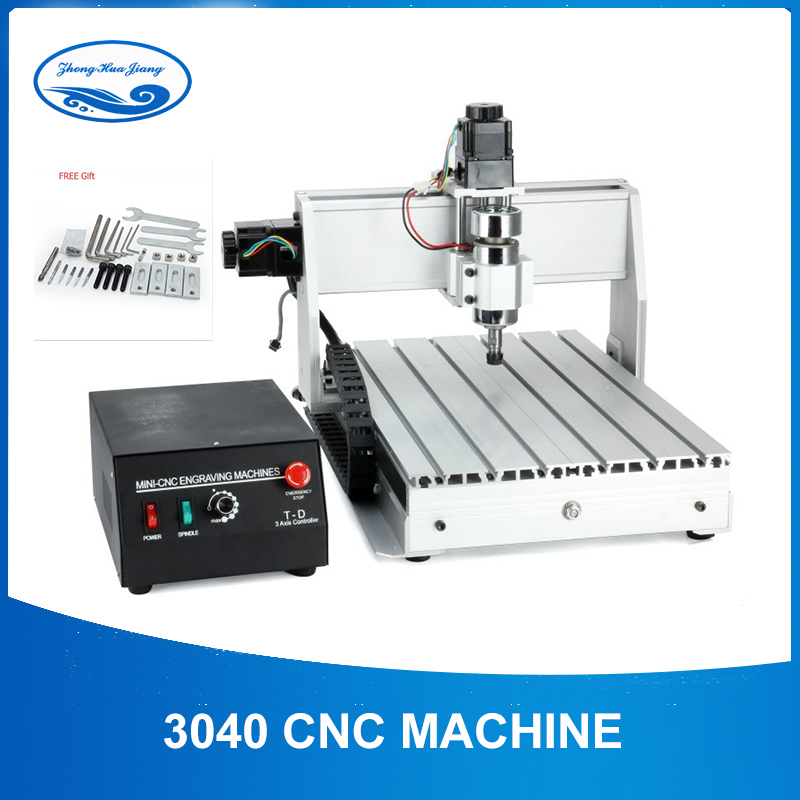 300W Mini CNC 3040 3 Axis Air Spindle CNC Router Engraver Metal Cutting Milling Engraving Machine Wood Engraver Factory Outlet