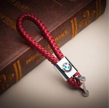 BMW Logo Genuine Leather Keychain
