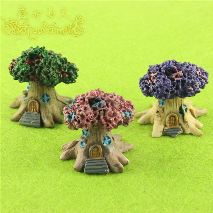 New Resin Tree House Micro Landscape Home DIY Miniature ...