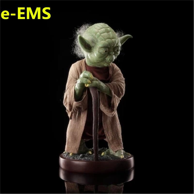 Anime Star Wars Gli Ultimi Jedi 85 cm Maestro Yoda Resina Sculture 1/1 Action Figure Modello di Raccolta Giocattolo G1538