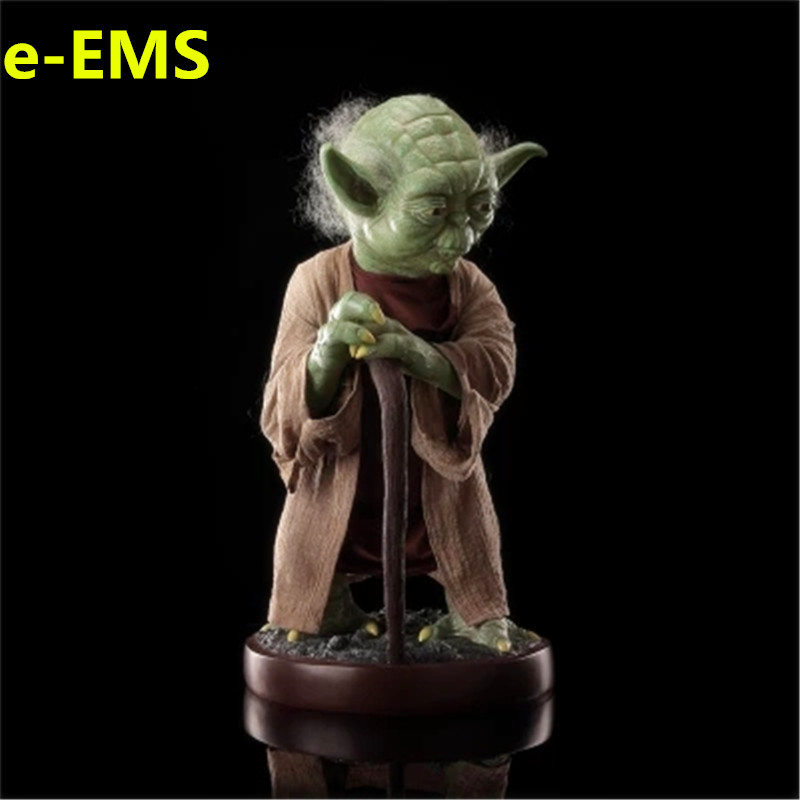 Anime Star Wars The Last Jedi 85CM Master Yoda Resin Sculptures 1/1 Action Figure Collection Model Giocattolo G1538 star wars jedi knight master yoda pvc action figures toys collection brinquedos great gifts for kids 5 12cm