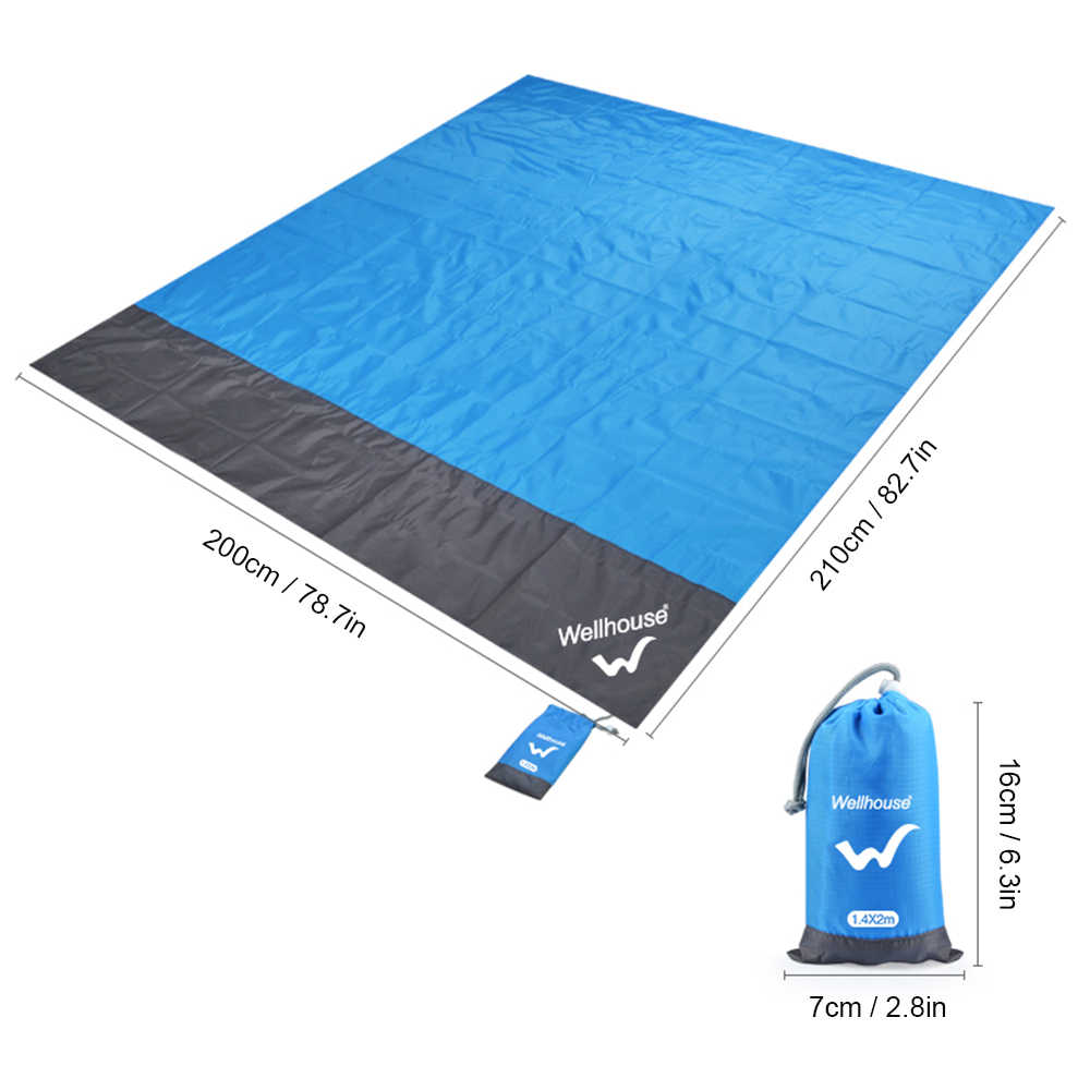 Водонепроницаемая пляжная подстилка на открытом воздухе Портативный коврик для пикника и похода напольный коврик Детские спальные складной матрас влагонепроницаемый коврик для палатки