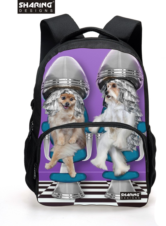 Preppy Style Children Animal Bagpack Cute Pug Dog Printing School Backpacks For Teenager Girls Casaul Backpack