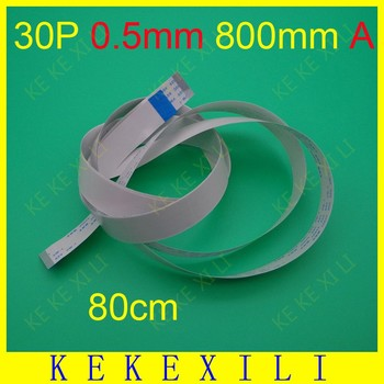 20pcs 800mm Length 30 Pins 0.5mm Pitch FFC FPC Ribbon Flat Cable Forward Direction For TTL