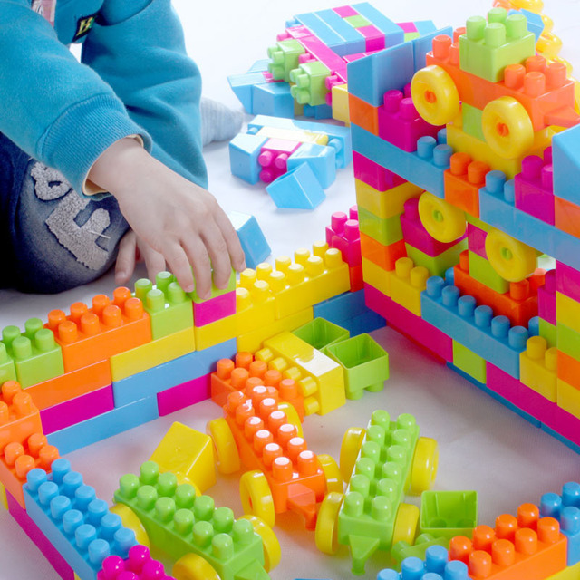 4 7 Years Old Baby Block Toys Large Particles Plastic Building