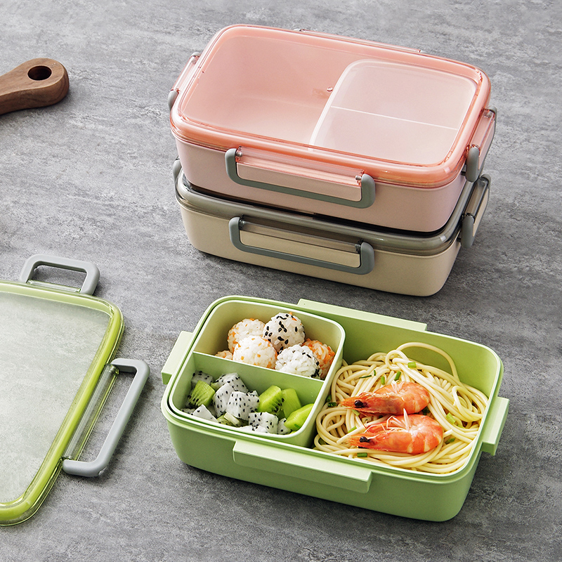 MeyJig Microwave <font><b>Lunch</b></font> <font><b>Box</b></font> Leak-Proof Independent Lattice Bento <font><b>Lunch</b></font> <font><b>Box</b></font> for Kids Bento <font><b>Box</b></font> Portable <font><b>Food</b></font> <font><b>Container</b></font> image