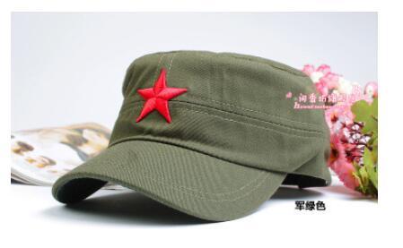 10 pçs lote frete grátis Tampas Do Exército Moda Verão Bordado Estrela  Vermelha Chapéu Boné ec1c0fd7588