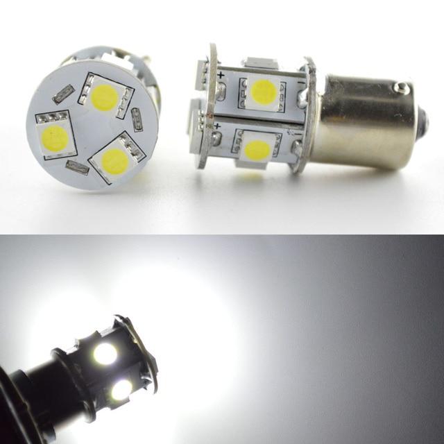 4pcs 6V 12V 24V Option 1156 1073 BA15S 9SMD 5050 LED Bulb Interior RV For  Camper