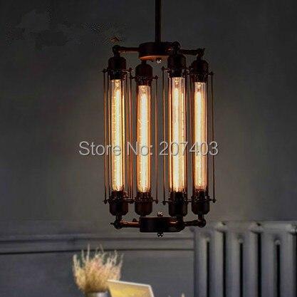 Personnalité de la campagne américaine Vintage pendentif lumières industrielles Edison lampe E27 Loft café Bar Restaurant cuisine lumières