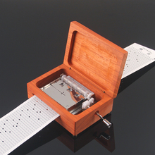 30 note diy hand crank paper tape diy movement music box birthday gift for lovers Christmas new year gifts