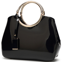 2016 New Fashion Luxury Patent Leather Handbags Bride Dinner Party Handbag Lady Shoulder Crossbody Bag Women