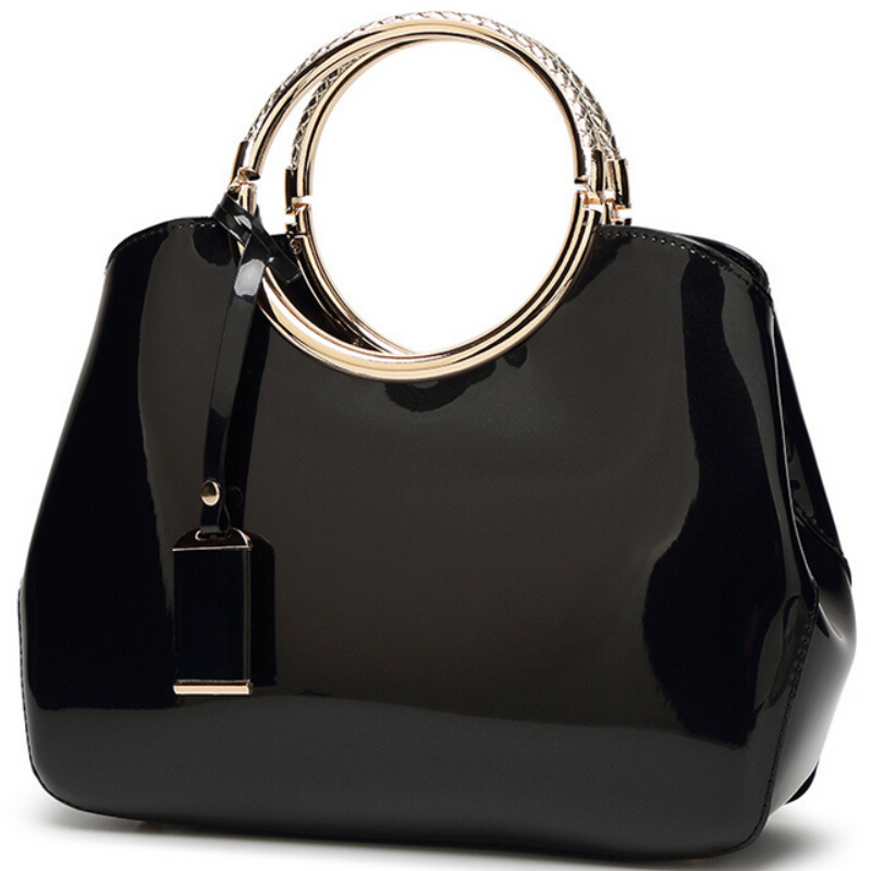2017New Fashion Luxury Patent Leather Handbags Bride Dinner Party Handbag Lady Shoulder Crossbody Bag Women Tote Bag Sac Femme new luxury hollow handbag dinner party bag women s evening bag fashion women s crossbody bag women clutch bags lady gifts flower
