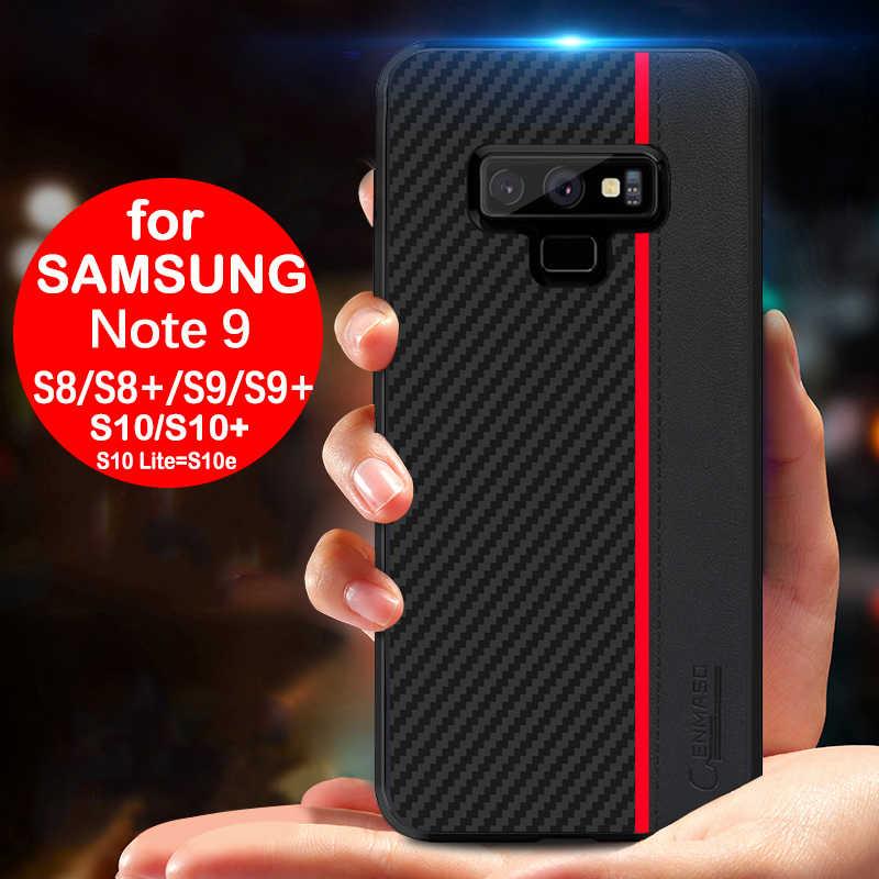 Dla Samsung Note 9 przypadku oryginalne etui z włókna CENMASO do Samsung Galaxy Note 9 etui do Samsung S8 S9 S10 Plus S10e przypadku